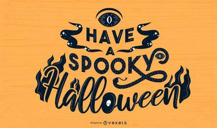 Diseño de letras de Halloween espeluznante