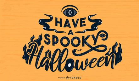 Espeluznante diseño de letras de Halloween