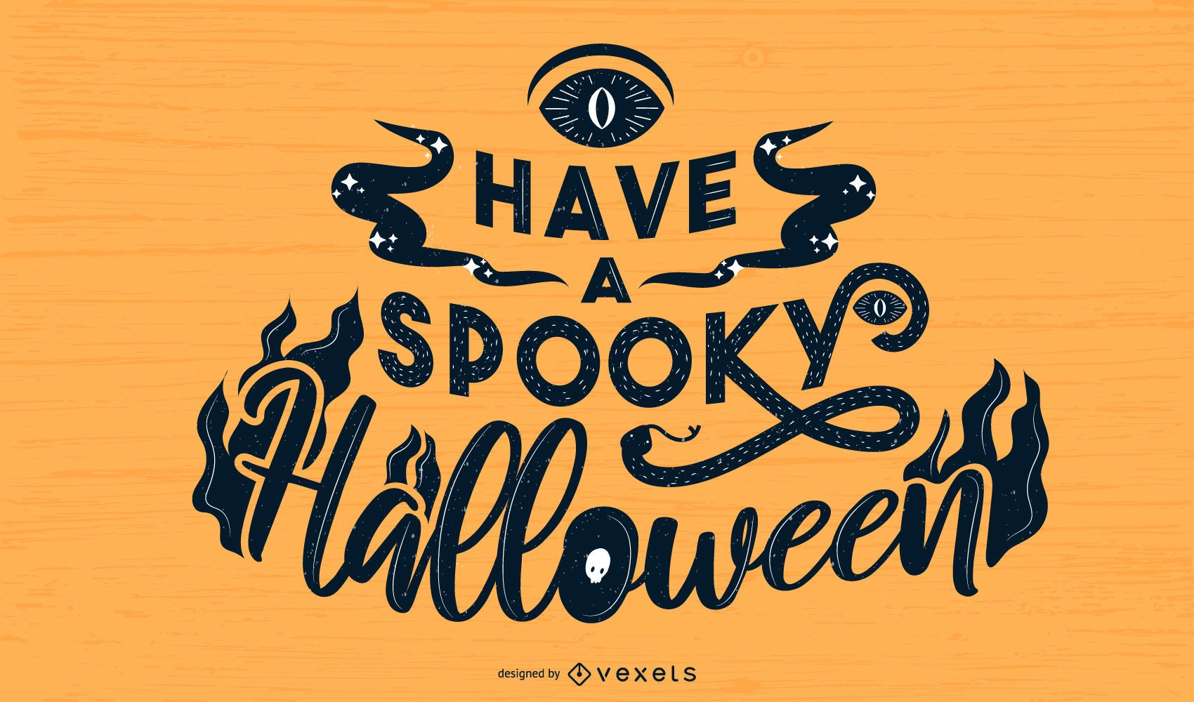 Spooky Halloween lettering design