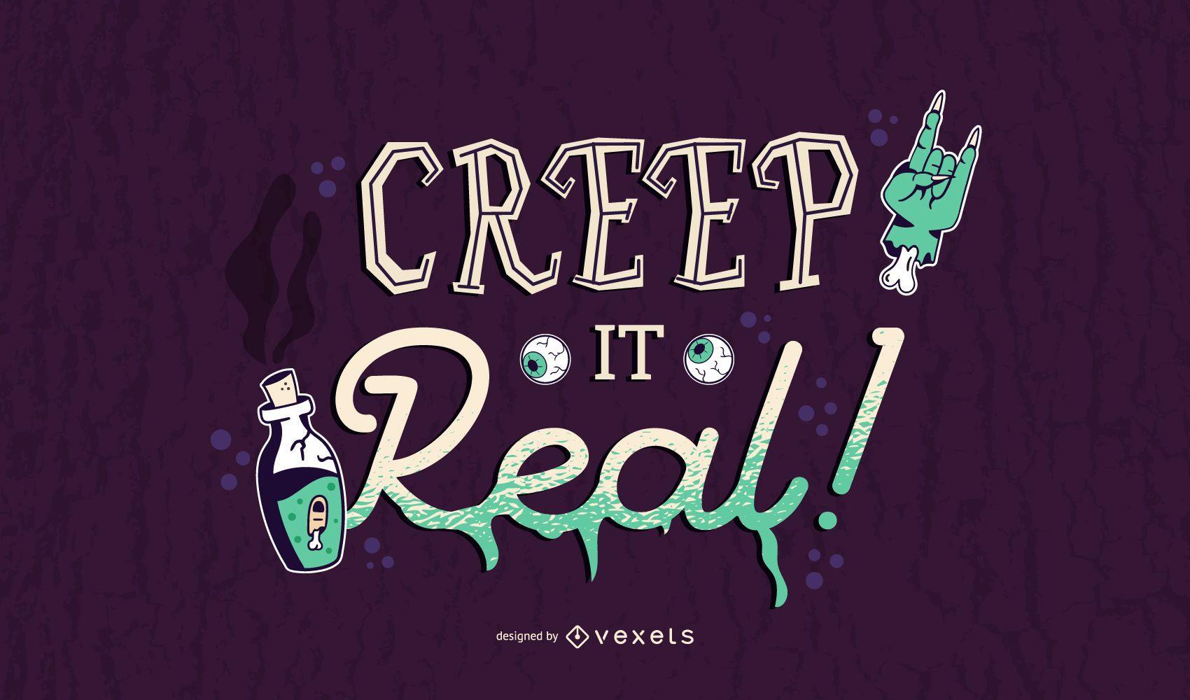 Creep it real banner de halloween