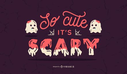 Cute scary halloween banner
