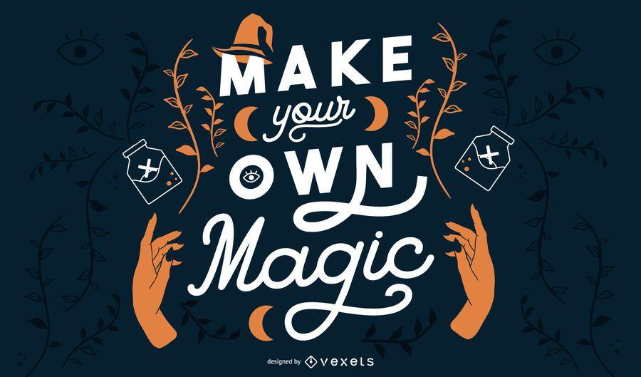 Haz tu pancarta mágica de halloween