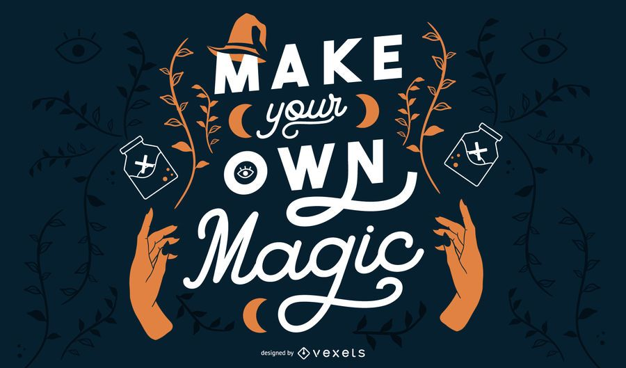 Make your magic halloween banner