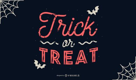 Doces ou travessuras banner de halloween