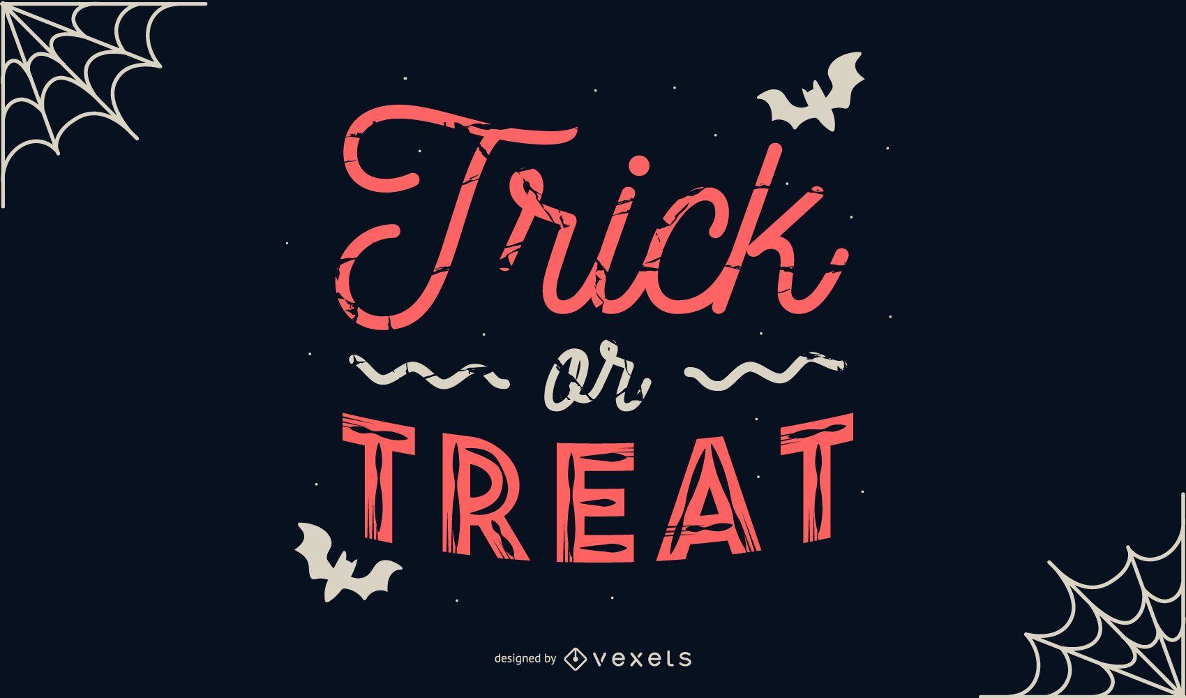 Banner de halloween de truco o trato
