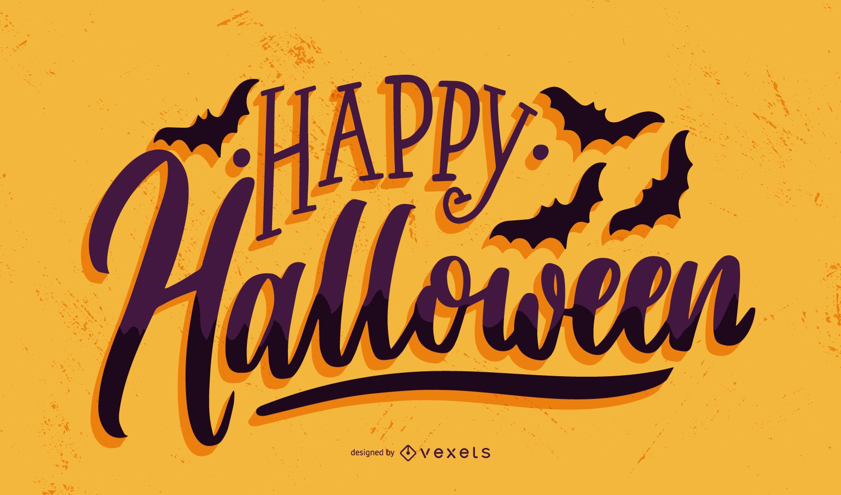 Happy halloween bats banner