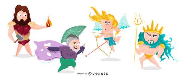 Pacote de Ilustração de Deuses Gregos nº 1