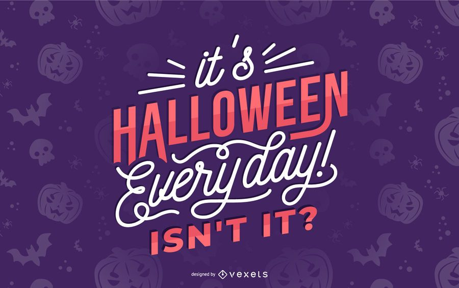 Halloween everyday lettering