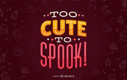Halloween niedlich, Beschriftung zu erschrecken