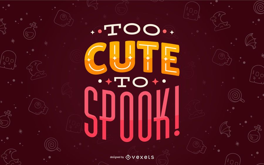 Halloween niedlich um Schriftzug zu erschrecken