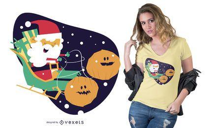 Halloween-Weihnachtst-shirt Entwurf