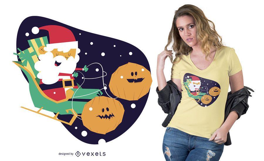 Projeto do t-shirt do Natal do Dia das Bruxas