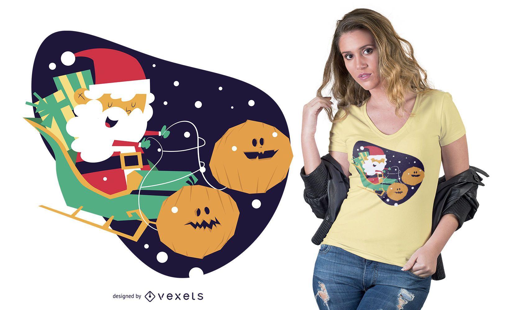 Halloween Christmas T-shirt Design