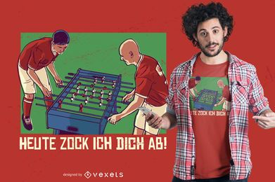 Diseño de camiseta de fútbol de mesa
