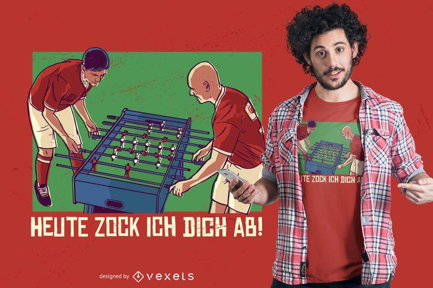 Diseño de camiseta de futbolín