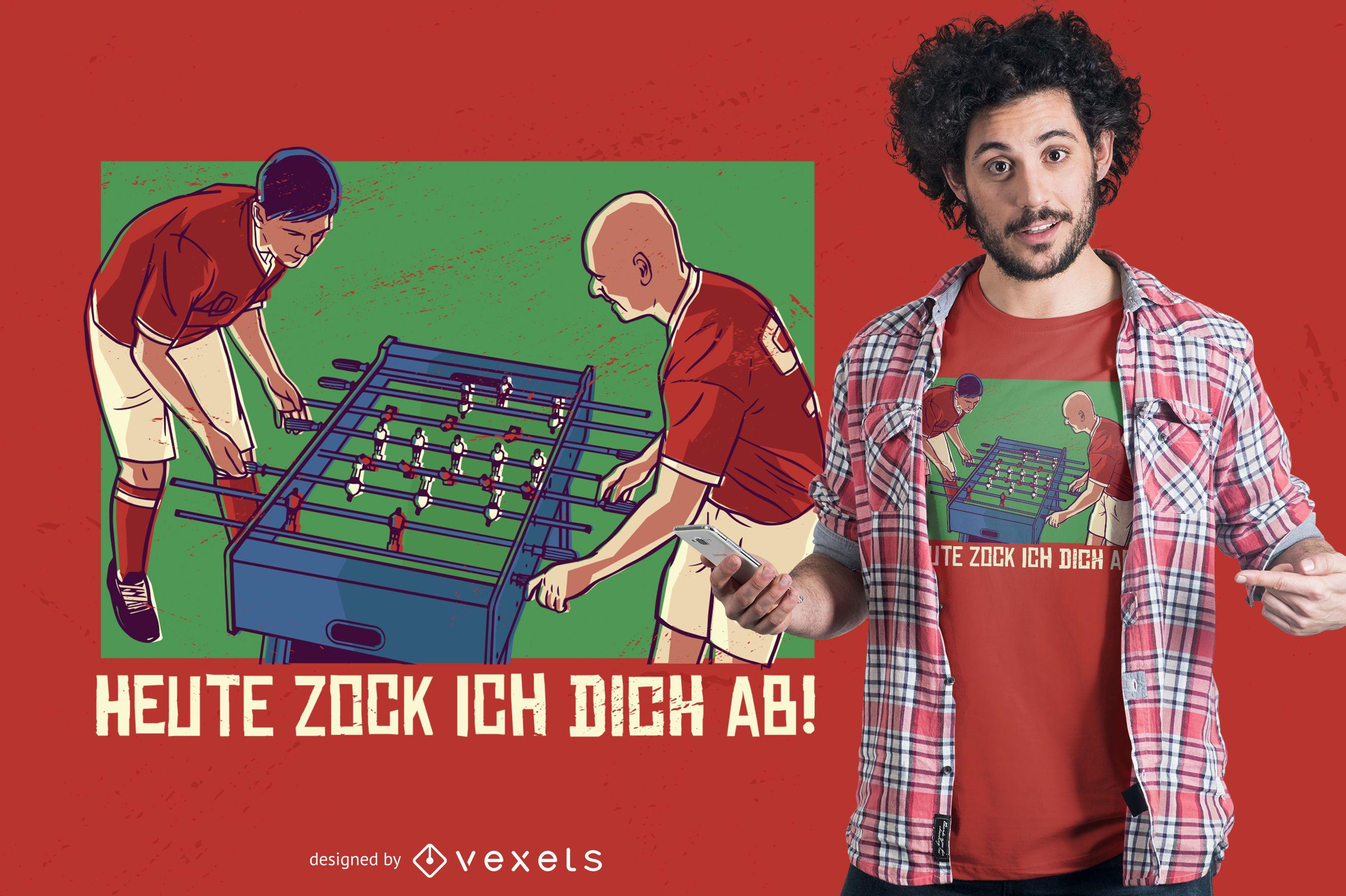 Table Football T-shirt Design