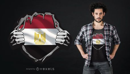 Egyptian Flag Chest T-shirt Design
