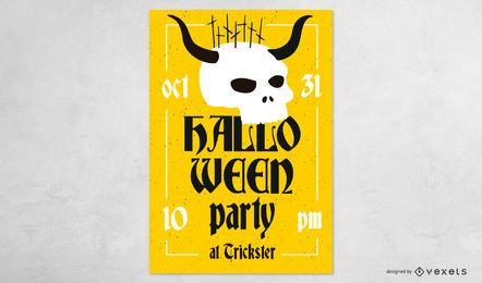 Diseño de banner de fiesta de Halloween