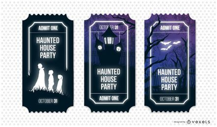 Haunted house party ticket set