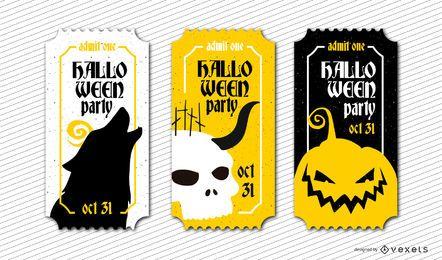 Thematische Halloween-Tickets
