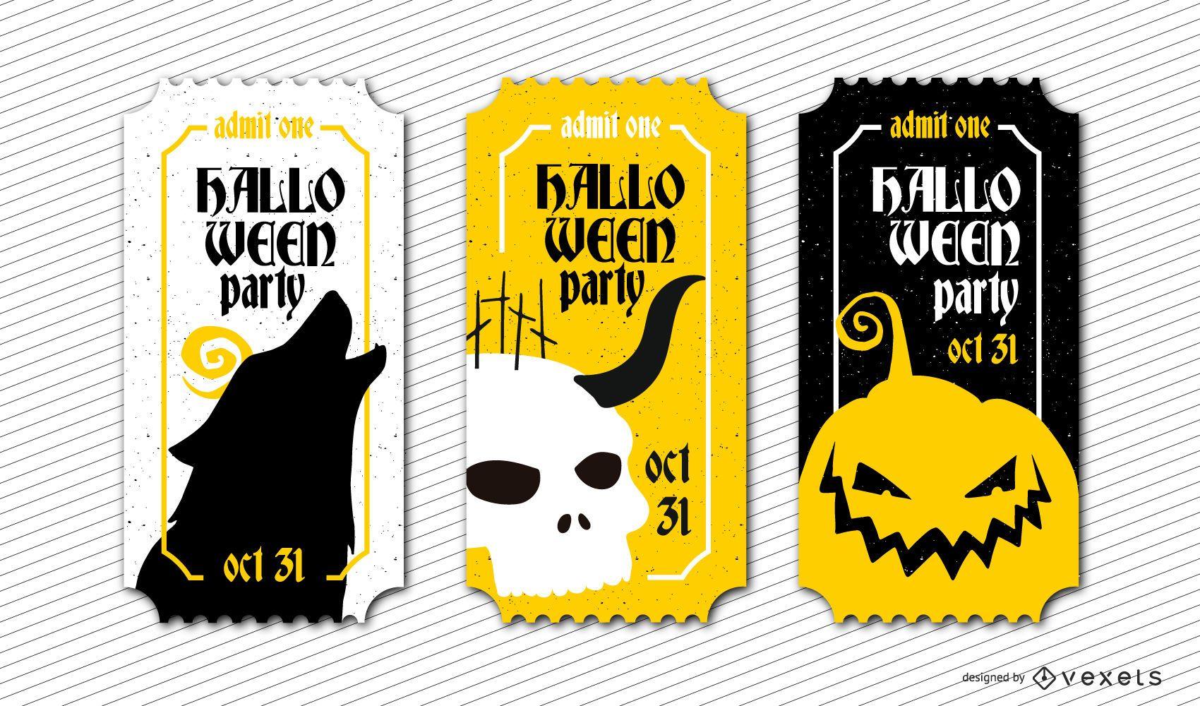 Themed Halloween Tickets