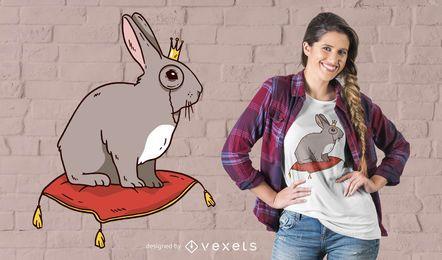 Königlicher Kaninchen-T-Shirt Entwurf