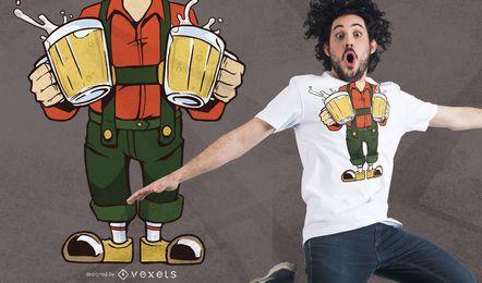 Diseño de camiseta Oktober Fest sin cabeza