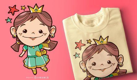 Diseño de camiseta de princesa para niños