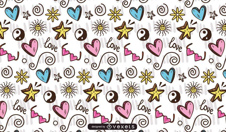 Doodle Teen Element Pattern Design