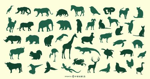 Animal Silhouette Vector Set