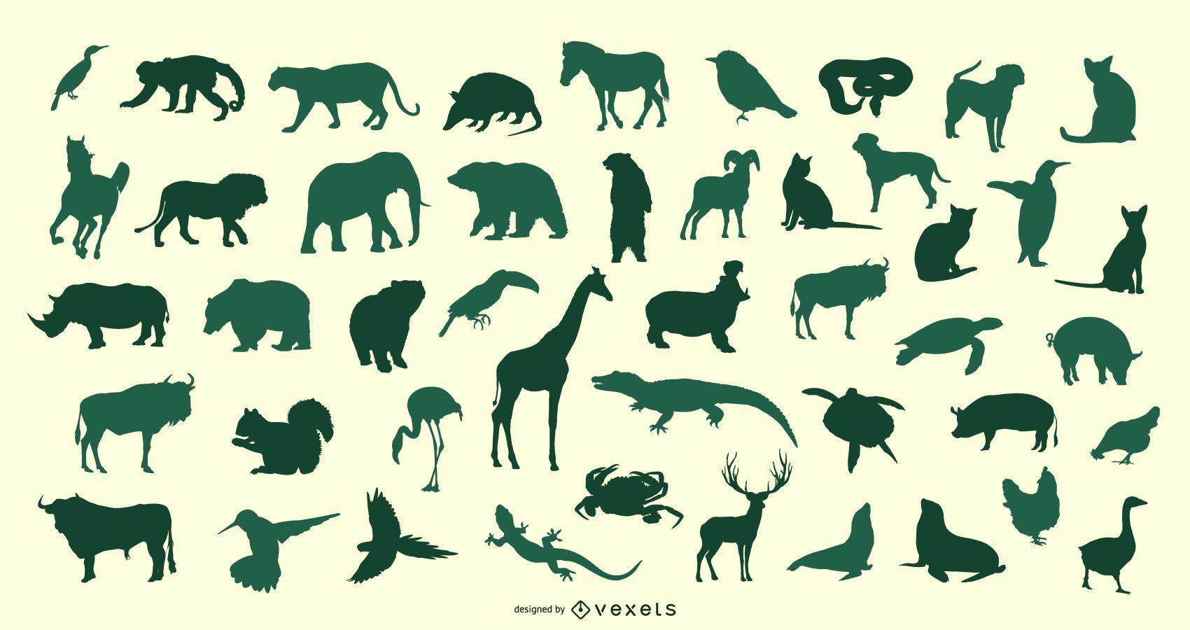Animal Silhouette Vector Set