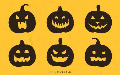 Coleção de silhueta de abóbora de Halloween