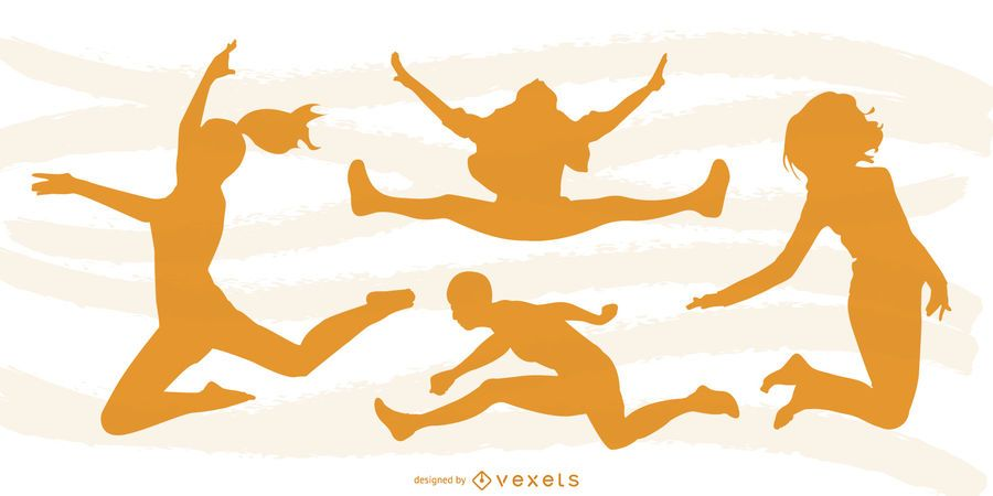 Jumping People Silhouette Design