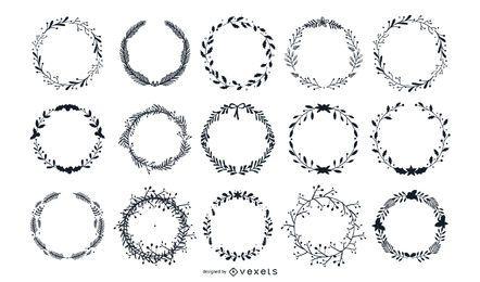 Conjunto de vectores de coronas de laurel
