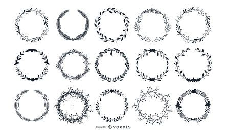 Laurel Wreaths Vector Set