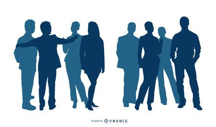 Silhueta de pessoas de negócios