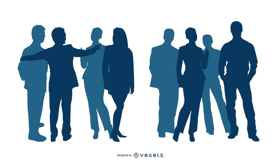 Silueta de personas de negocios