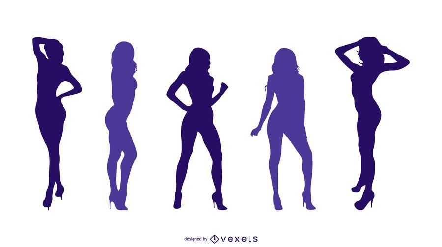 Sexy Girls Silhouette Set
