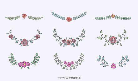Blumenkamm-Zierset