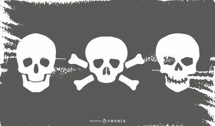 Simple Skull Silhouette Set