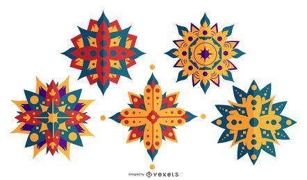 Conjunto de mandala de Diwali