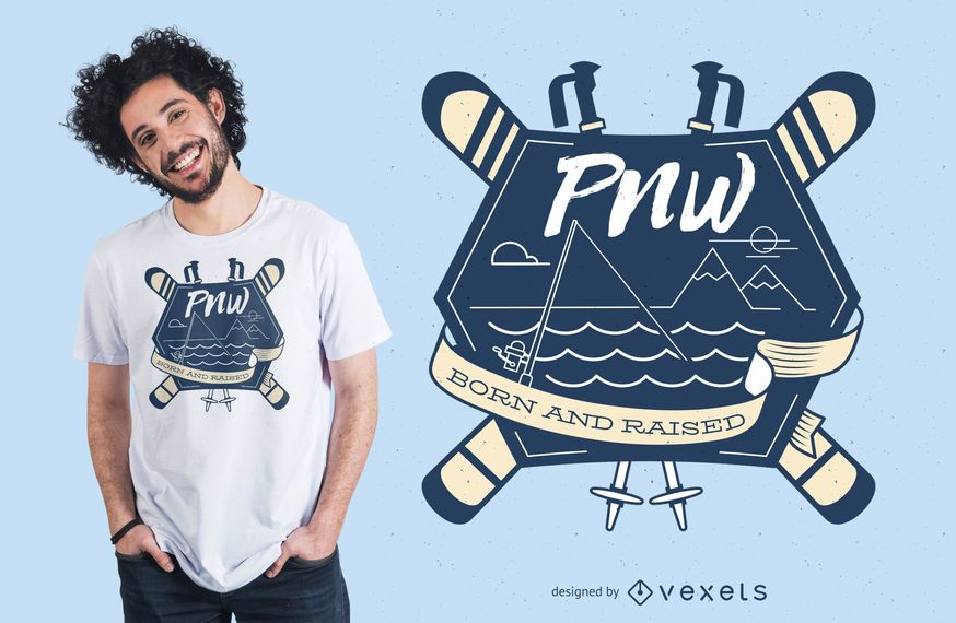 Diseño de camiseta de patinaje sobre nieve