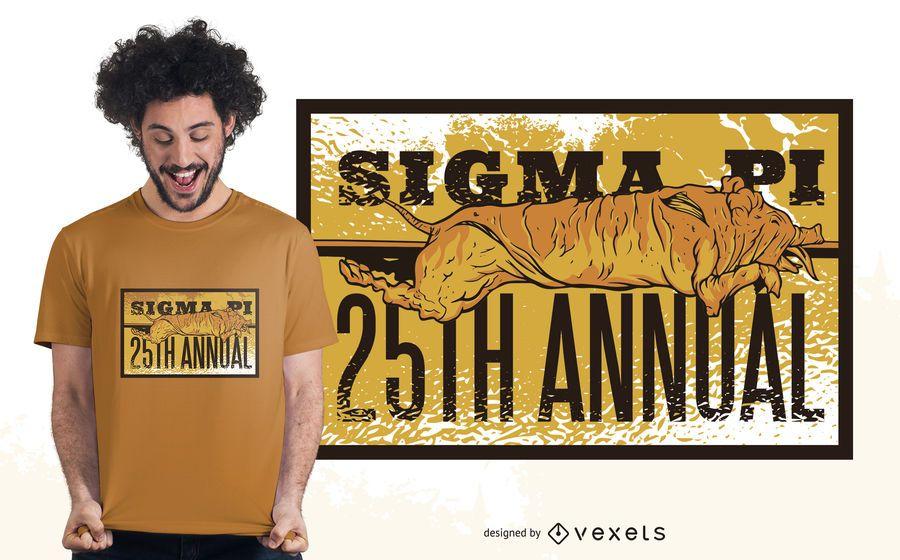 Diseño de camiseta del 25 aniversario de la fraternidad