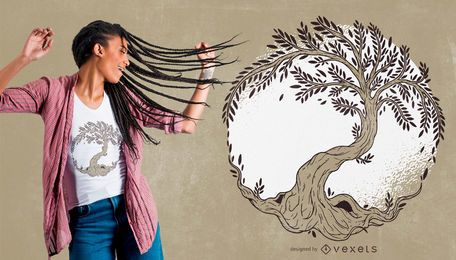 Baum des Leben-Illustrations-T-Shirt Designs