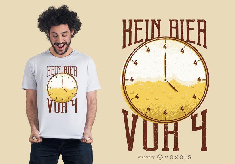 Diseño de camiseta de cerveza