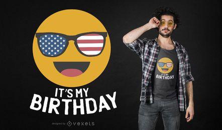 Aniversário Emoji T-shirt Design