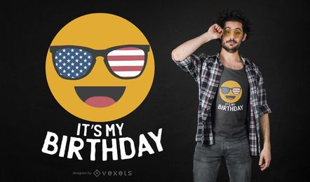 Diseño de camiseta de cumpleaños Emoji