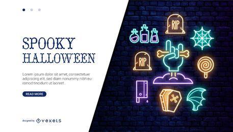 Control deslizante web de neón de Halloween