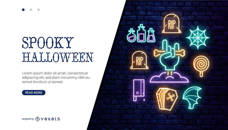 Controle deslizante de néon de Halloween