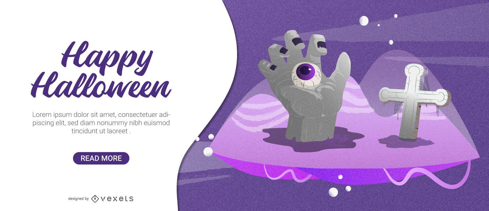 Spooky Halloween card design